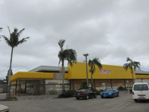 It's ok - unlike the old one, the new Pak'n Save doesn't look like it's been hit by a cyclone.