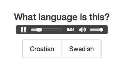 It's just an image so you can't actually click here. But if you could, the answer would be Croatian.